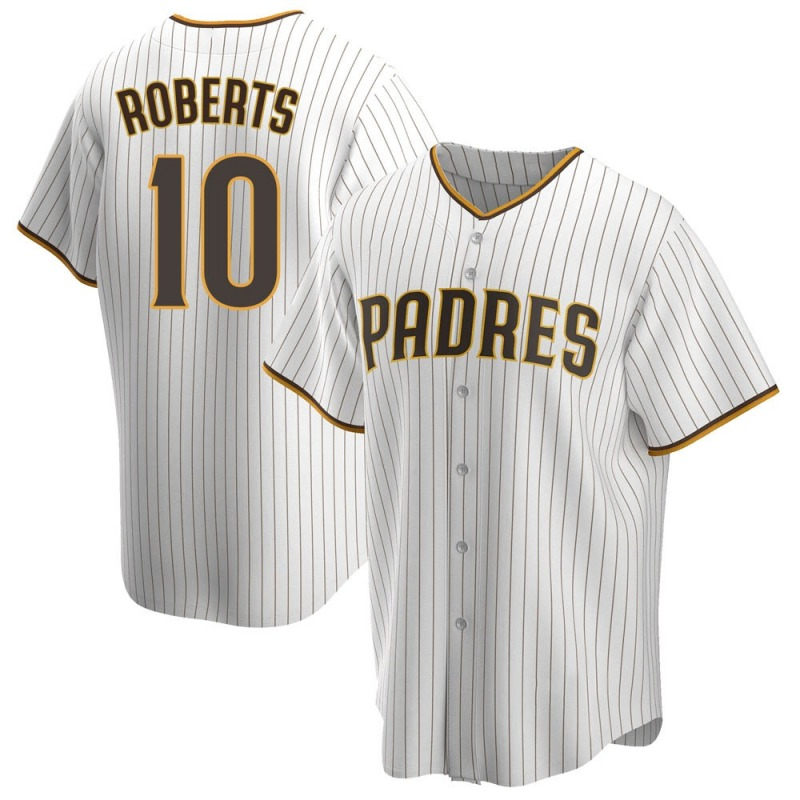 Men's Bip Roberts San Diego Padres Replica White /Brown Home Jersey