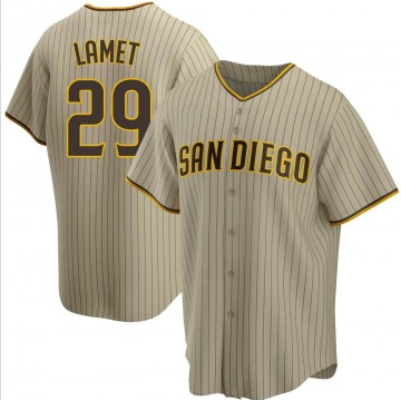 Men's Dinelson Lamet San Diego Padres Replica Brown Sand/ Alternate Jersey