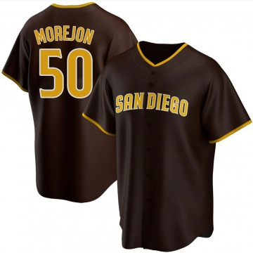 Youth Adrian Morejon San Diego Padres Replica Brown Road Jersey