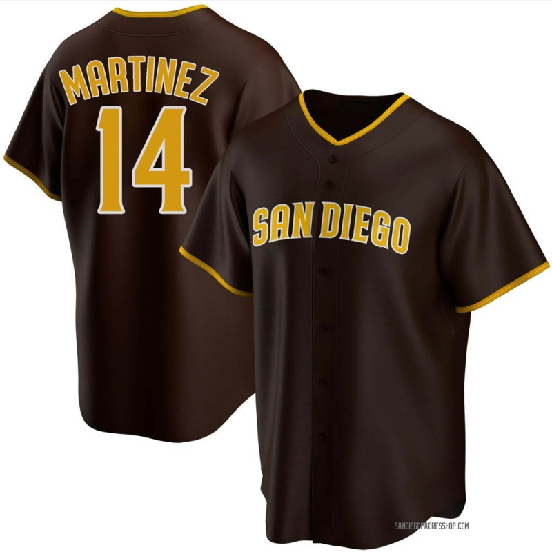 Youth Carmelo Martinez San Diego Padres Replica Brown Road Jersey