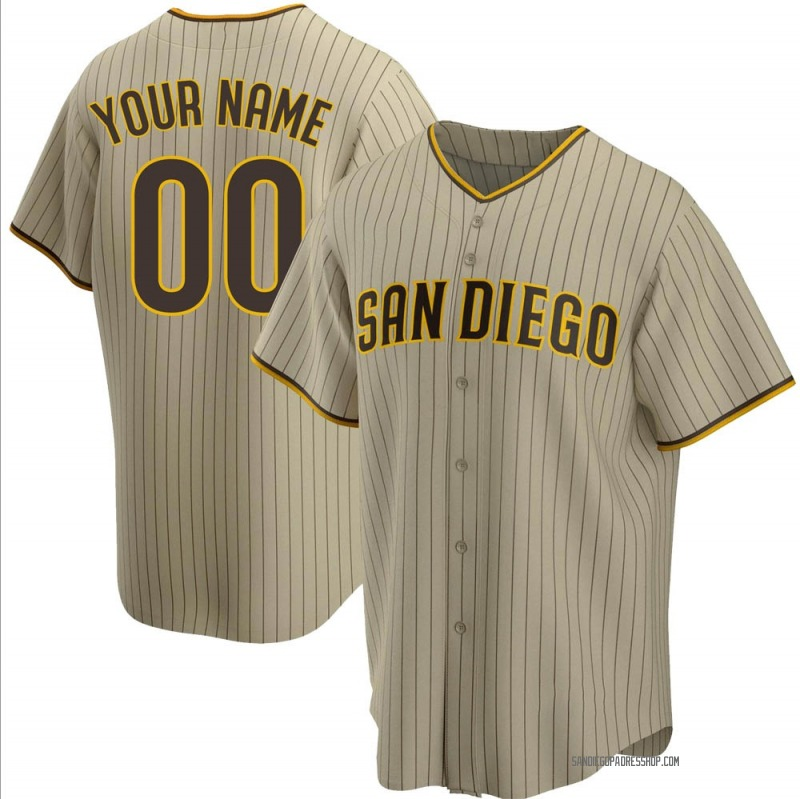 Youth Custom San Diego Padres Replica Brown Sand/ Alternate Jersey
