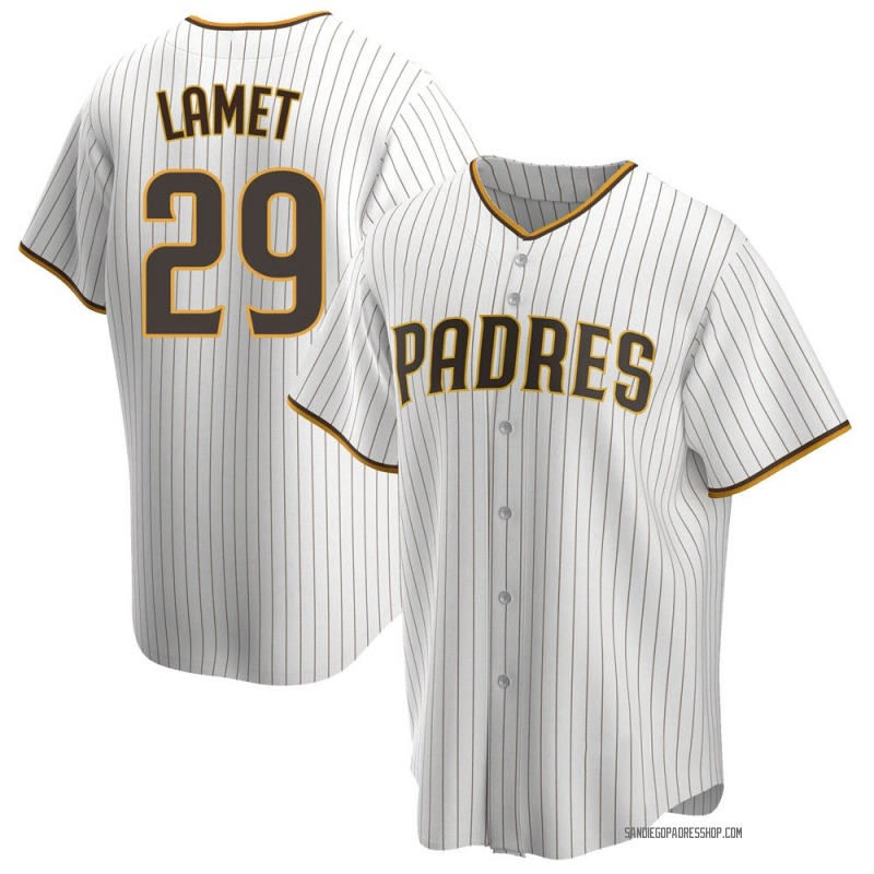 Youth Dinelson Lamet San Diego Padres Replica White /Brown Home Jersey