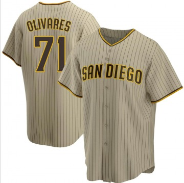 Youth Edward Olivares San Diego Padres Replica Brown Sand/ Alternate Jersey