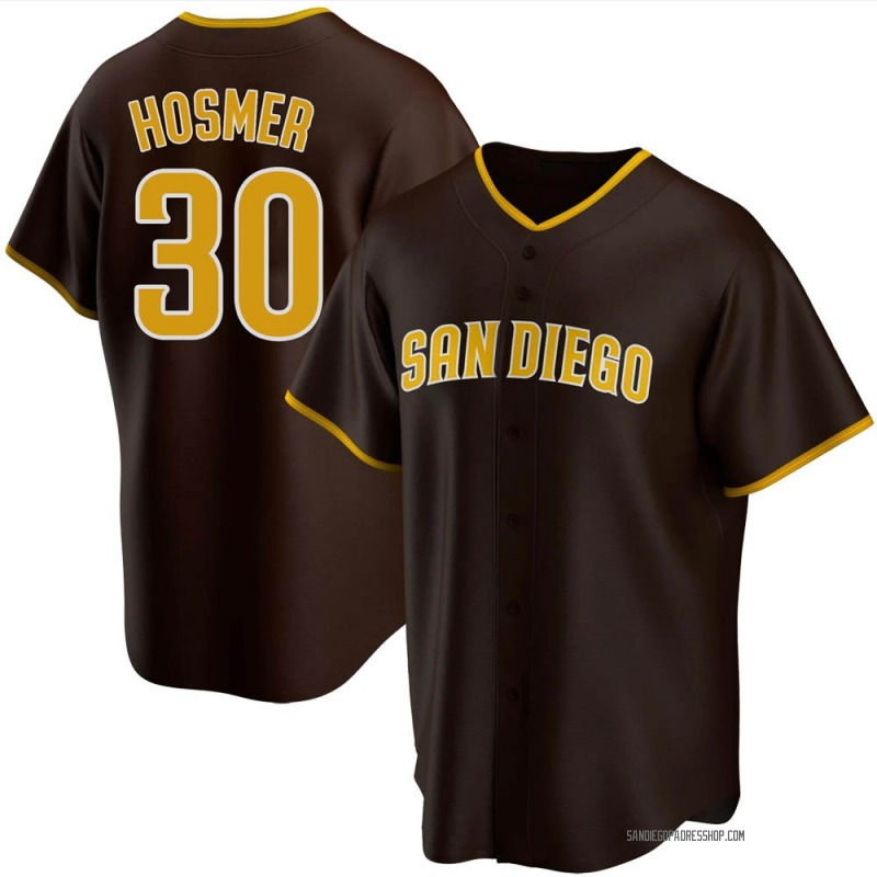 Youth Eric Hosmer San Diego Padres Replica Brown Road Jersey