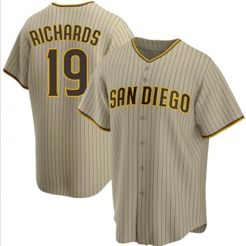 Youth Gene Richards San Diego Padres Replica Brown Sand/ Alternate Jersey