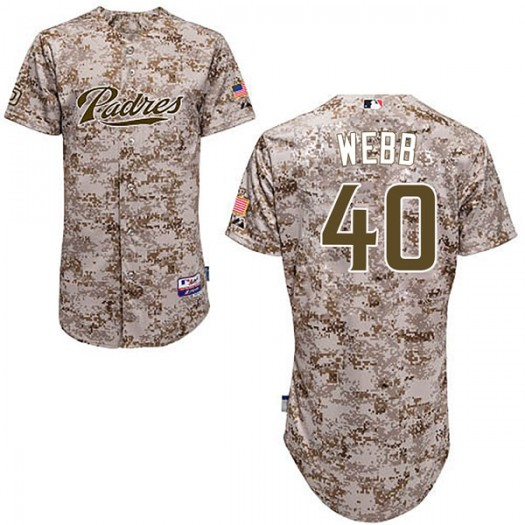 Men's Majestic Tyler Webb San Diego Padres Player Authentic Camo Cool Base Alternate Jersey