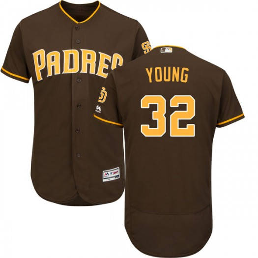 Youth Majestic Chris Young San Diego Padres Player Replica Brown Cool Base Alternate Jersey