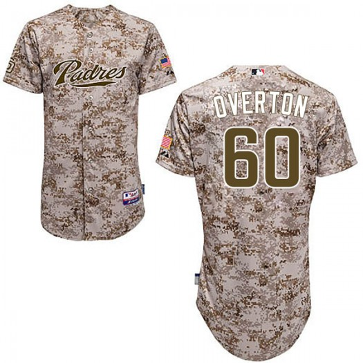 Youth Majestic Dillon Overton San Diego Padres Player Authentic Camo Cool Base Alternate Jersey