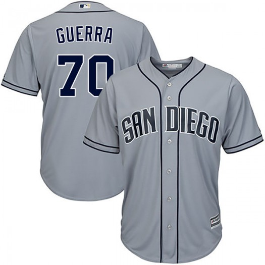 Men's Majestic Javy Guerra San Diego Padres Player Replica Gray Cool Base Road Jersey