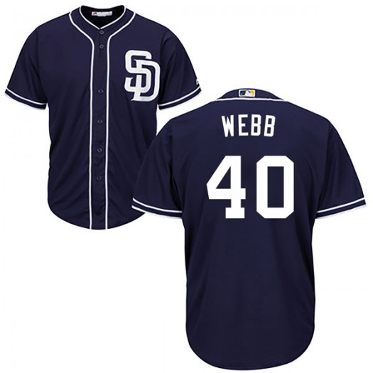 Youth Majestic Tyler Webb San Diego Padres Player Authentic Navy Cool Base Alternate Jersey