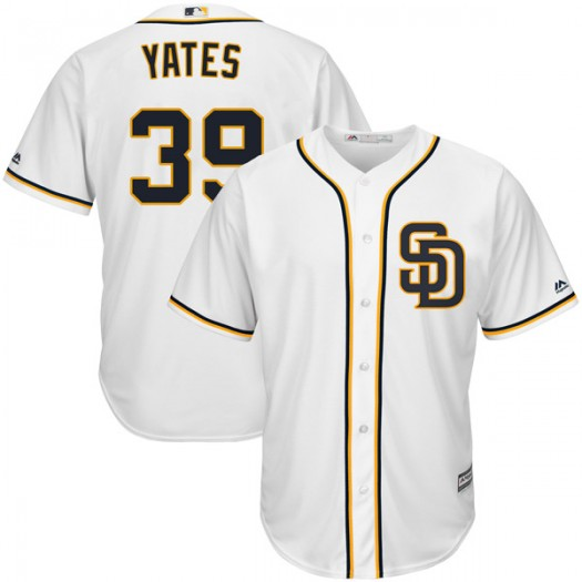 Men's Majestic Kirby Yates San Diego Padres Player Authentic White Cool Base Alternate Jersey
