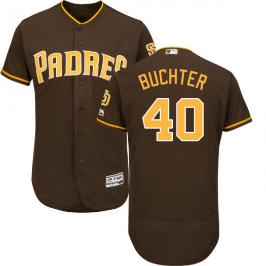 Men's Majestic Ryan Buchter San Diego Padres Player Replica Brown Alternate Flex Base Collection Jersey