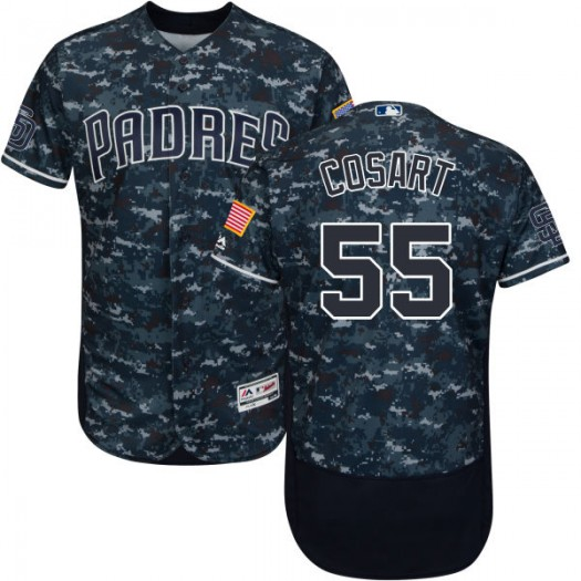 Youth Majestic Jarred Cosart San Diego Padres Player Replica Camo Navy/ Alternate Flex Base Collection Jersey