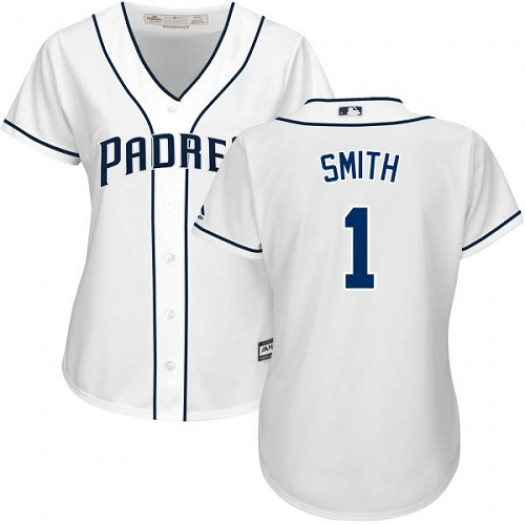 Women's Majestic Ozzie Smith San Diego Padres Player Replica White Home Cool Base Jersey