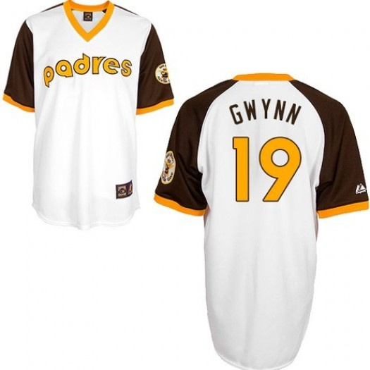 Men's Mitchell and Ness Tony Gwynn San Diego Padres Player Authentic White Throwback Jersey